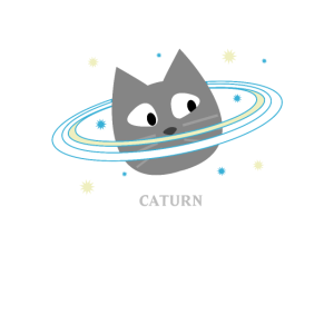 Caturn Saturn Weltraum Katze Geschenk