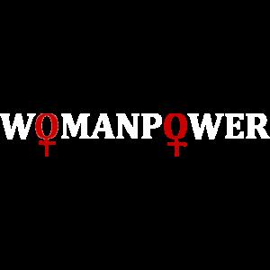 Womanpower Frauenpower Maedchenpower Powerfrau