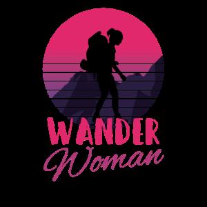 Wander Woman Retro Vintage Berge Design