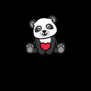 Nur ein Mädchen, das Pandas für LICHT liebt