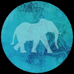 Mandala Elefant rund Yoga Indien Meditation Hobby