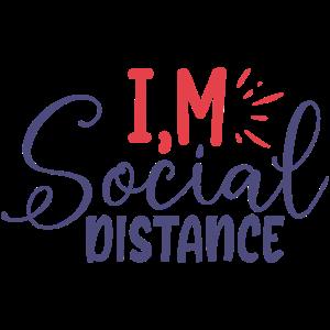 Ich bin ein typografisches Zitat für soziale Distanz