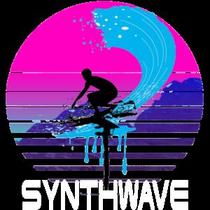 Synthwave Retro Design Surfer