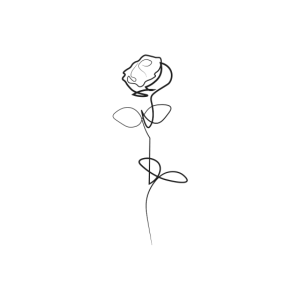 Minimalistische Rose