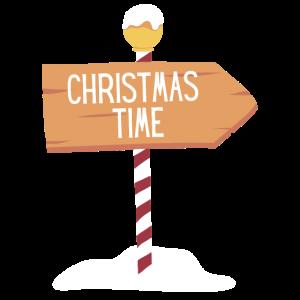 Christmas Time - Wegschild