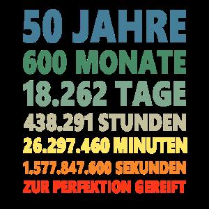 50. Geburtstag 50 Jahre 50ter Geburtstagsgeschenk