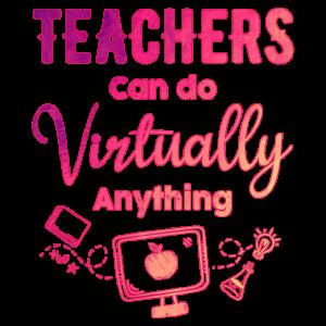 Virtueller Lehrer Lehrerin Geschenk