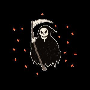 Halloween Totenkopf Sensemann