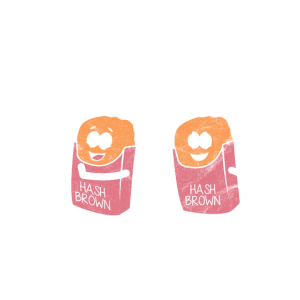 Hashtag mit Brownies-Geschenkidee