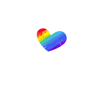 Regenbogen LGBT Geschenk Farbkleckse Liebe Herz