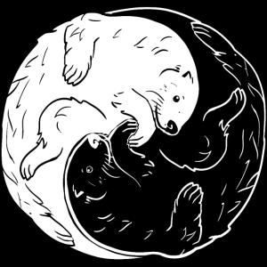 Otter Ying Yang Symbol