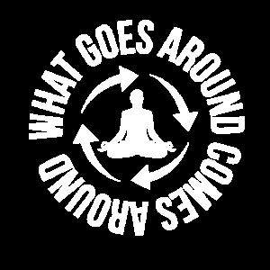 Karma Spruch Yoga Energie