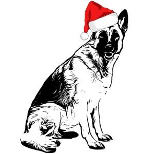 Weihnachten Schäferhund Weihnachtsgeschenk Hunde