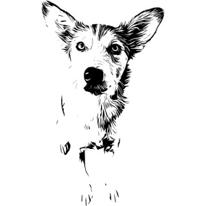 Podenco-Mischling / Hunde Design Geschenkidee