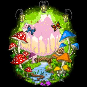 Zauberpilz Wald