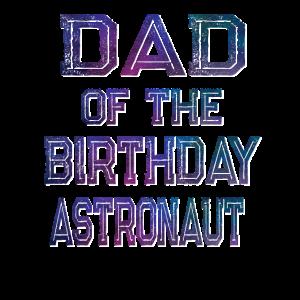 Vater des Geburtstagsastronauten-Jungen- und Mädchenraums