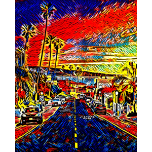 Kalifornien Sonnenuntergang, USA