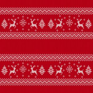 Maske Weihnachten Wolle Strick rot Textur Pullover