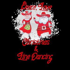 Weihnachten Linedance Geschenk T-Shirt