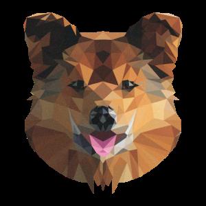 Poly Art Dog
