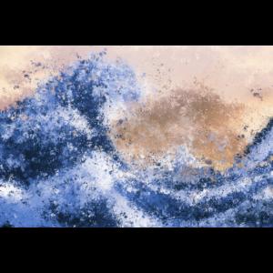 Die große Welle Inspirierte Abstrakte Malerei
