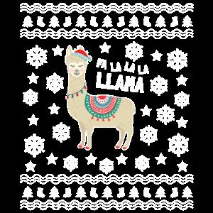 Lama hässliche Weihnachten