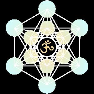 Heilige Geometrie Merkaba Om white