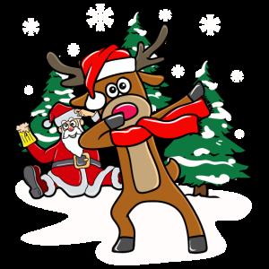 Dabbing Rentier Reindeer Santa Weihnachten Lustig