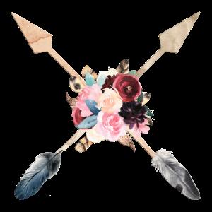 Boho Pfeile Federn Blumen personalisierbar