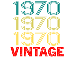Retro Vintage 1970 50th Birthday Gift For Men Wome