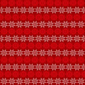 Gesichtsmaske im roten Weihnachts-Strik-Design