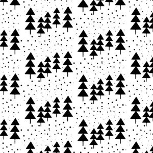 Gesichtsmaske im schwarz-weißen Weihnachtsdesign