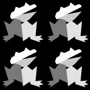 frosch 4er seitlich grau