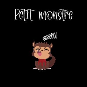 Kleine Baby- und Kinderkleidung des Werwolfmonsters