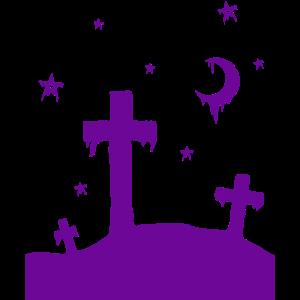 Friedhof lila