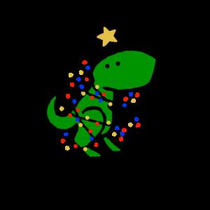 Baum Rex Dinosaurier festlich