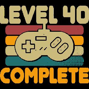 Level 40 Complete 40 Geburtstag Geschenk
