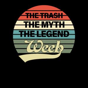Weeb Trash & Weeaboo Trash Vintage Anime Geschenke