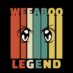 Weeaboo Legend Weeb Trash Vintage Anime Geschenke