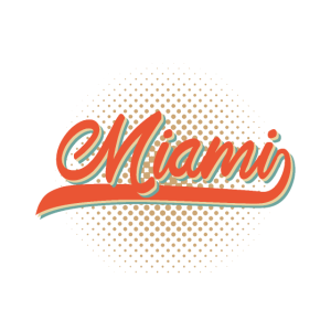 Miami Florida Retro Vintage