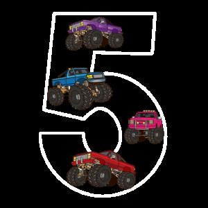 5 Jahre alt Monster trucks Geburtstag Geschenk