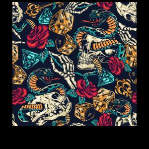 Skull And Snake Desing