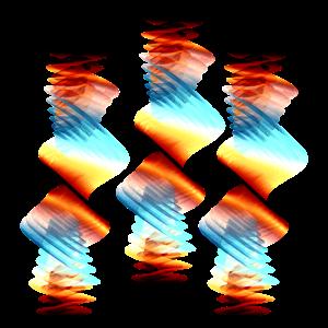 Muster abstrakt 70er Jahre Boho