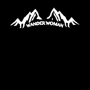 Wander Woman Berg Berge Motiv Design als Geschenk