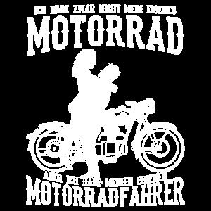 Ich habe zwar nicht mein eigenes Motorrad Bikerin