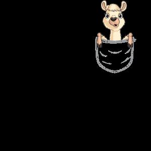 Lama in Brusttasche lustige Alpaka Tasche Geschenk