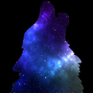 Galaxie Wolf blau