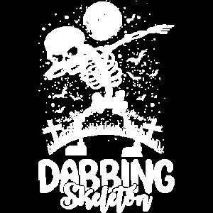 Dabbing Skelett Halloween Geschenk