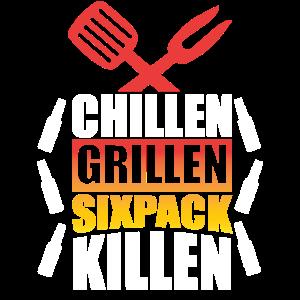 Chillen grillen Sixpack killen.