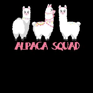 Alpaka Girl Lama Alpaca Squad Team